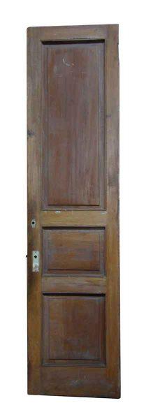 Three Panel Narrow Wood Door