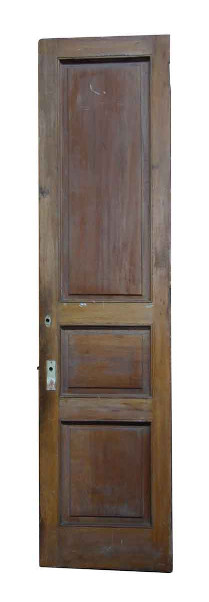 Three Panel Narrow Wood Door