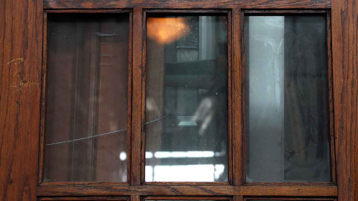 Pair of doors with 15 vertical glass panels olde good things for 15 panel glass french door