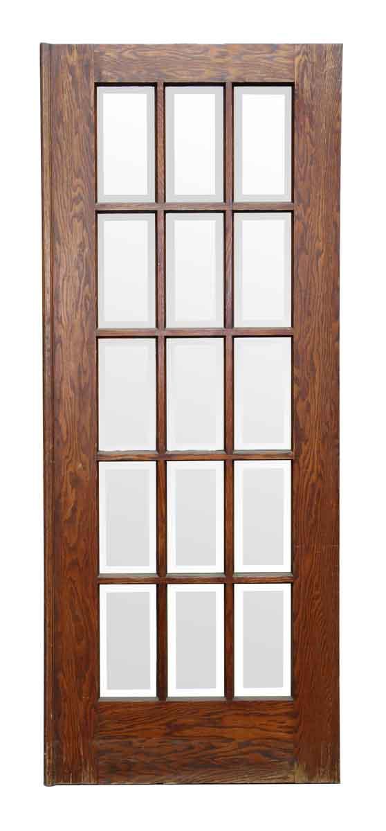 Door with 15 Beveled Glass Panels