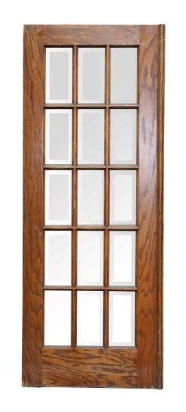 15 Beveled Glass Panel Door