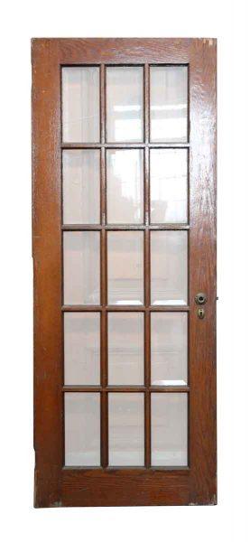 15 Beveled Glass Panel Wood Door