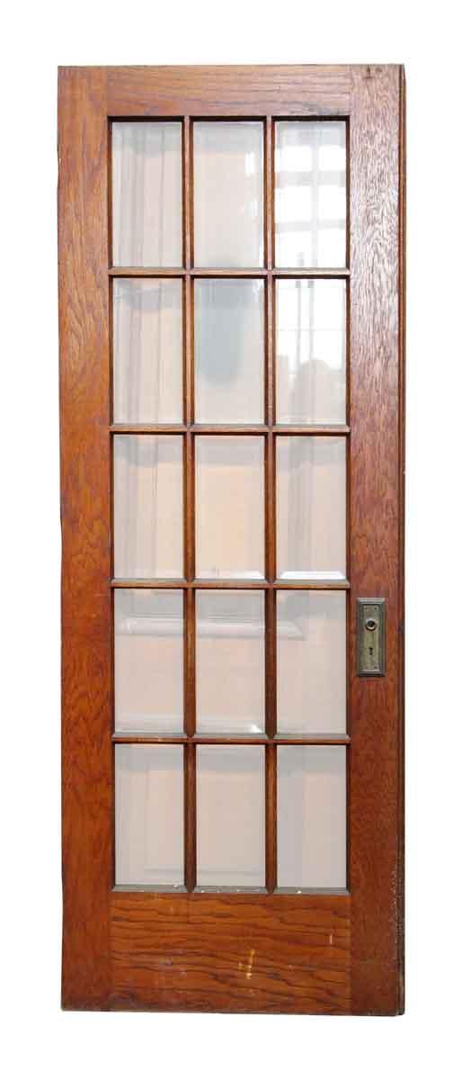 15 vertical glass panel beveled door olde good things for 15 panel glass french door