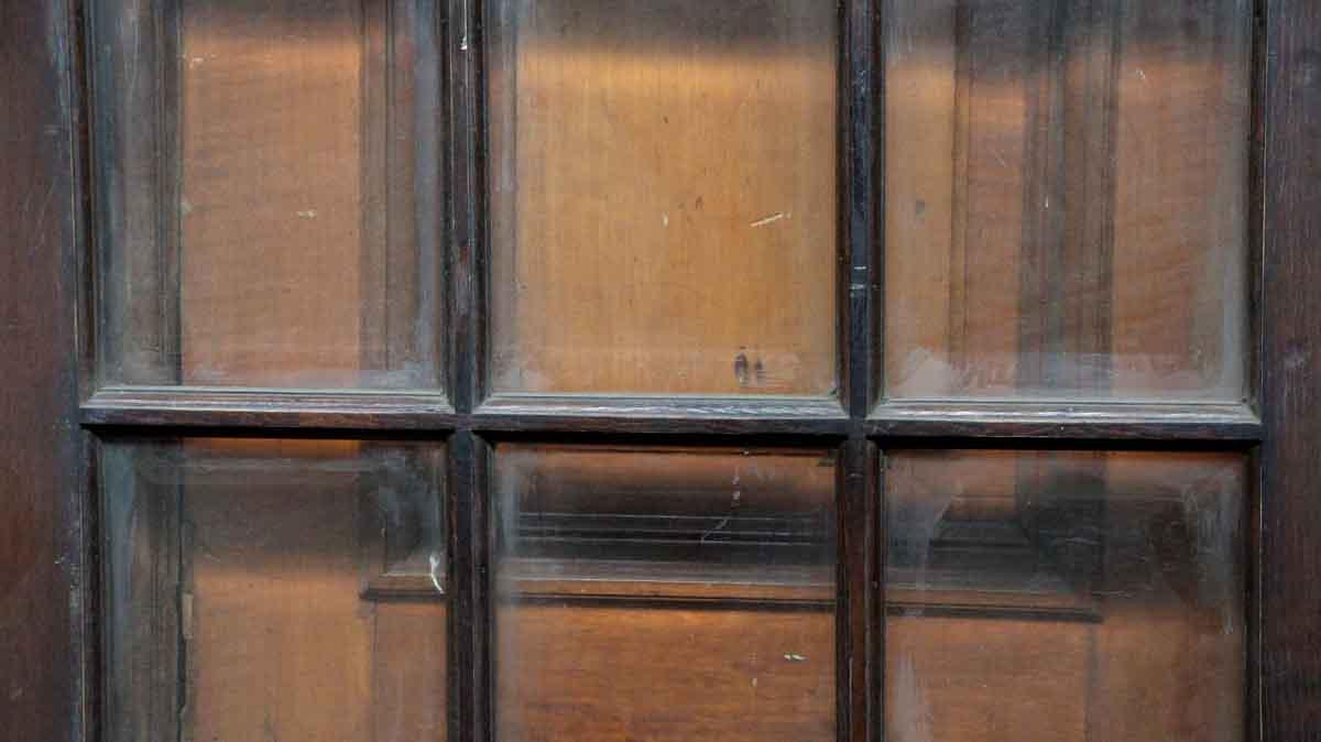 Dark wood door with 15 beveled glass panels olde good things for 15 panel beveled glass door