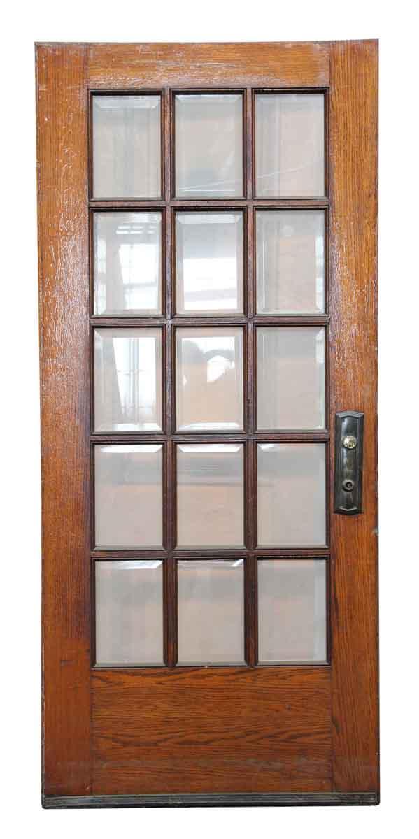 15 Beveled Glass Panel Wooden Door Olde Good Things