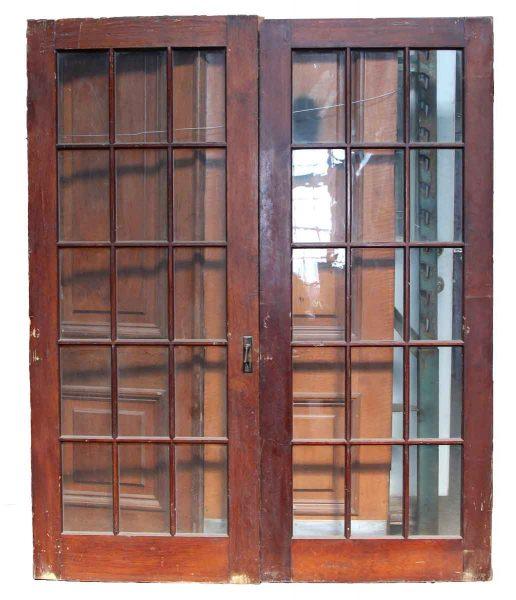 Pair of 15 Glass Panel Double Door