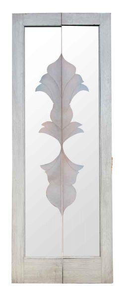 Pair of Doors with Etched Decorative Glass