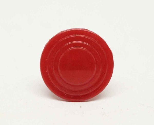 Solid Red Plastic Vintage Knob