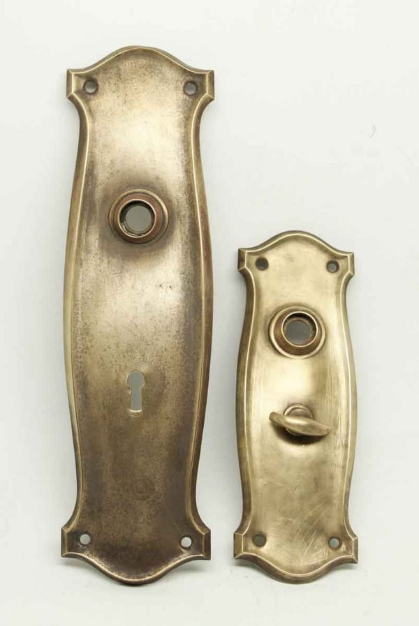 Pair of Plain Brass Entry Back Plates