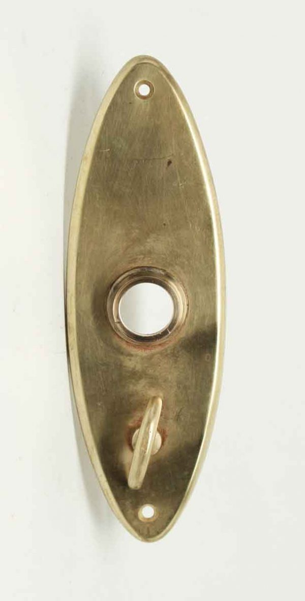 Brass Plain Oval Back Plates with Turn Latch