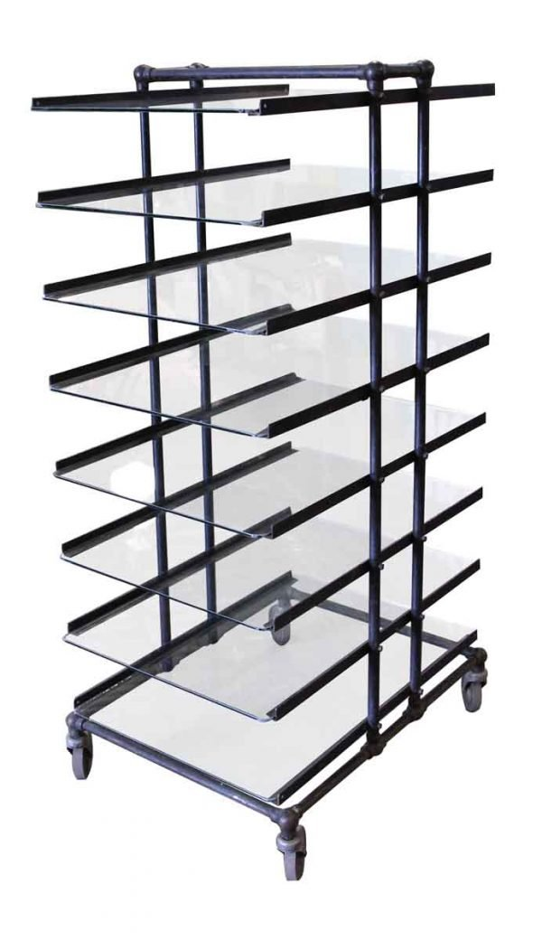 Eight Glass Shelf Storage Unit