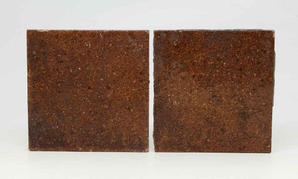 Pair of Matte Brown Square Tiles