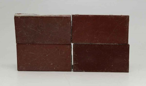 Set of 49 Small Burgundy Rectangle Tiles