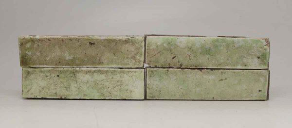 Set of 26 Crackled Green Horizontal Tiles