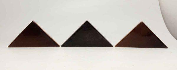 Set of 16 Burgundy Triangular Tiles