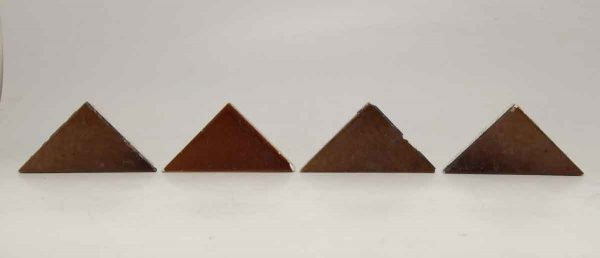 Set of Four Burgundy Triangle Tiles