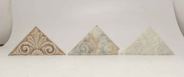Set of Three Decorative Triangular Tiles