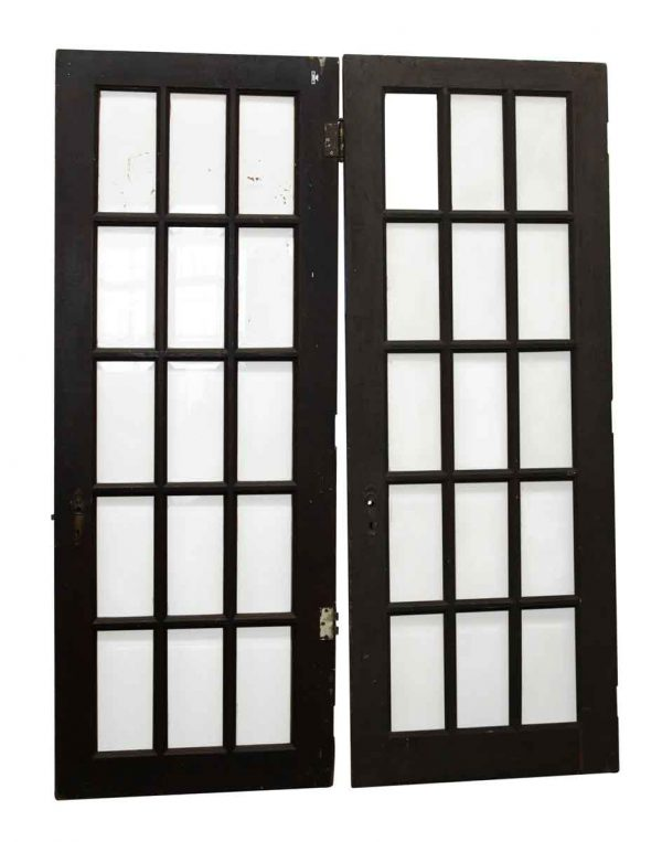 Beveled Glass 15 Panel French Doors