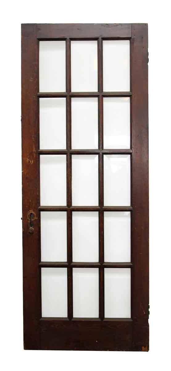 Wooden door with 15 beveled glass panels olde good things for 15 panel wood door