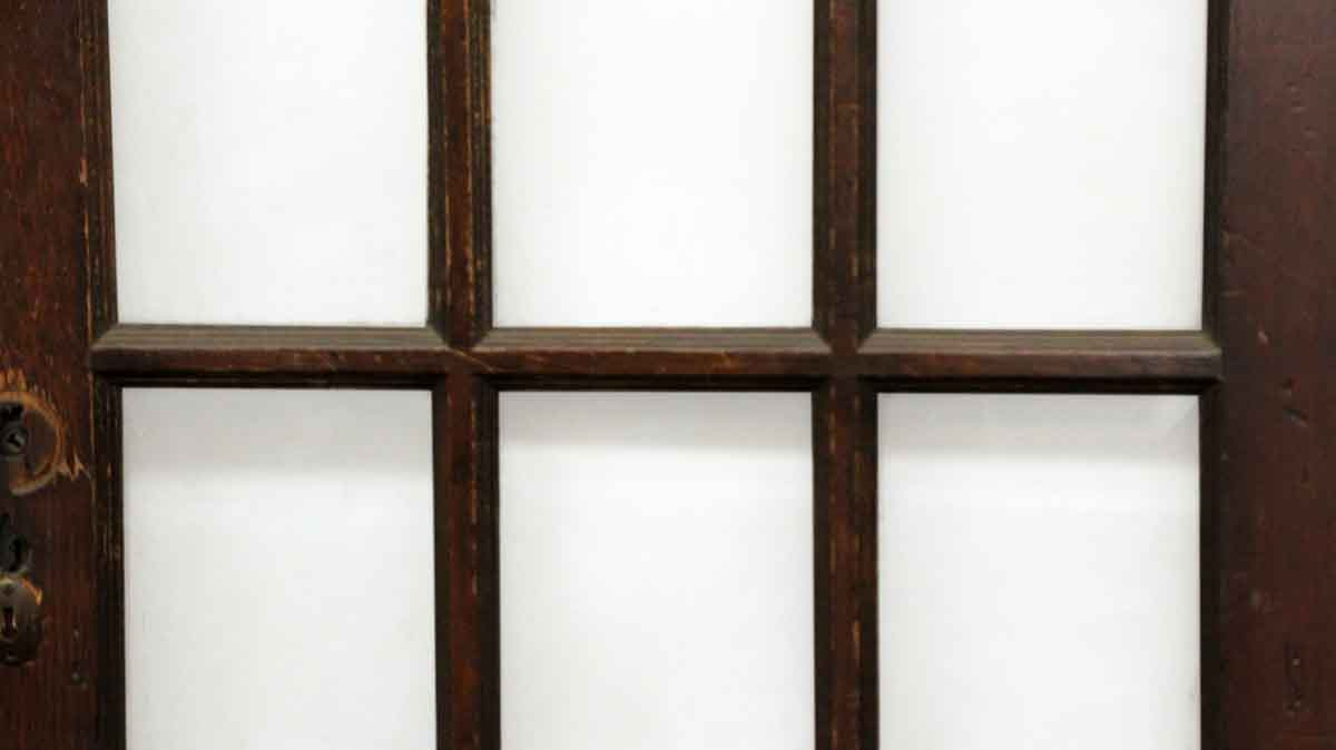 Wooden door with 15 beveled glass panels olde good things for 15 panel glass french door