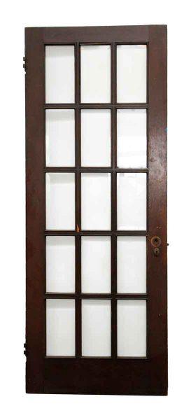Wooden Door with 15 Beveled Glass Panels