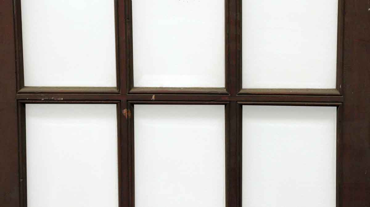 Wood door with 15 beveled glass panels olde good things for 15 panel glass french door