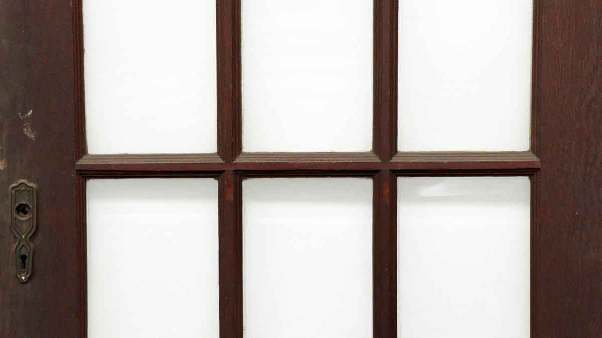 Wood Door With 15 Beveled Glass Panels Olde Good Things