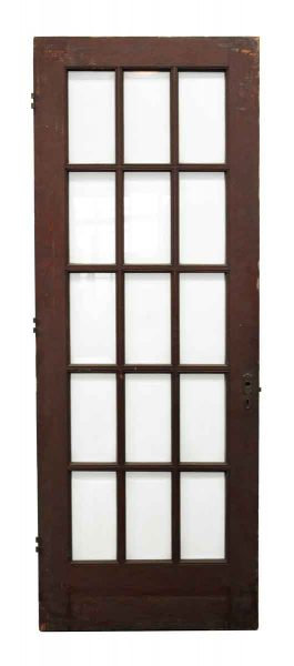 Wood Door with 15 Beveled Glass Panels