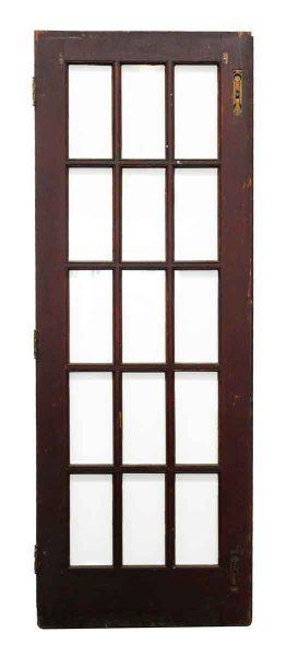 15 Glass Panel Wood Door