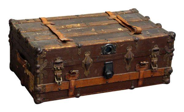 Old Wooden Steamer Trunk