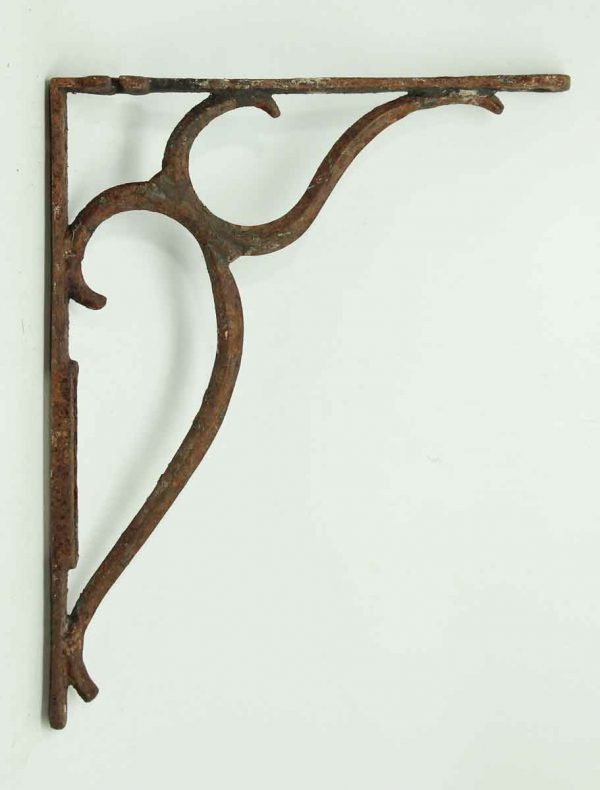 Pair of Rusted Iron Shelf Brackets