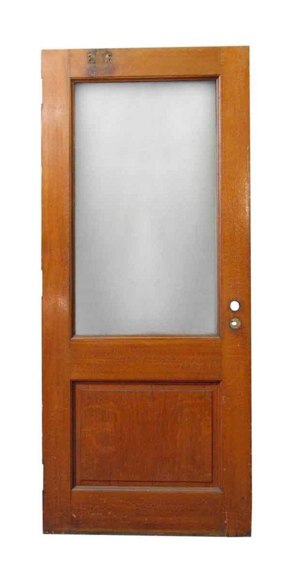 Squared Textured Glass Panel Door