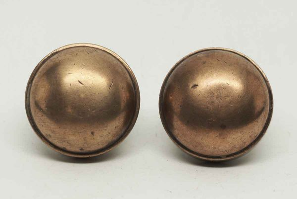 Pair of Brass Copper Washed Knobs