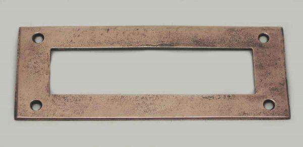 Plain Copper Plated Letter Slot Back Plate