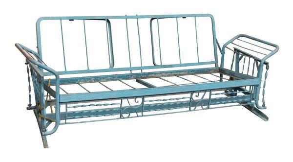 Blue Metal Porch Swing