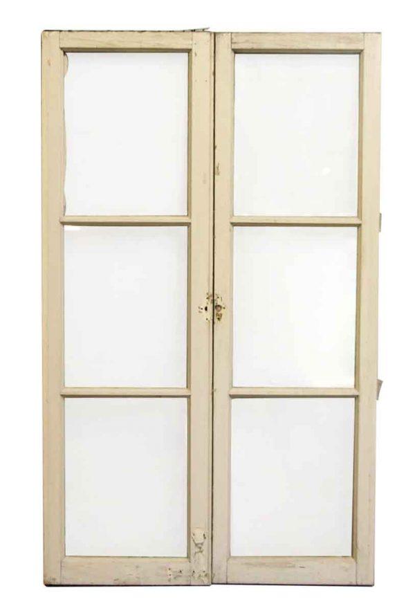 Pair of Wood Frame Three Pane Windows