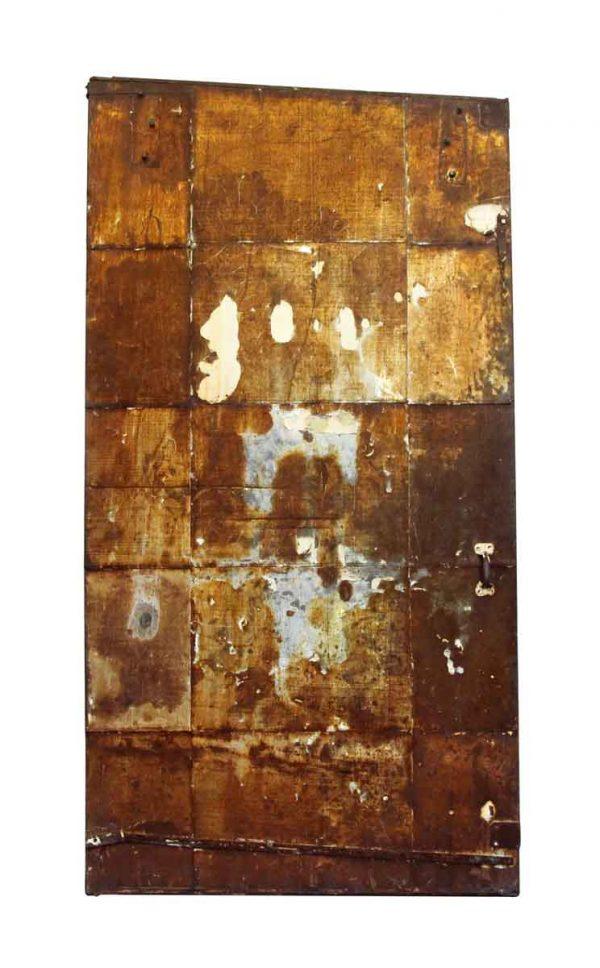 Rusted Metal Fire Door