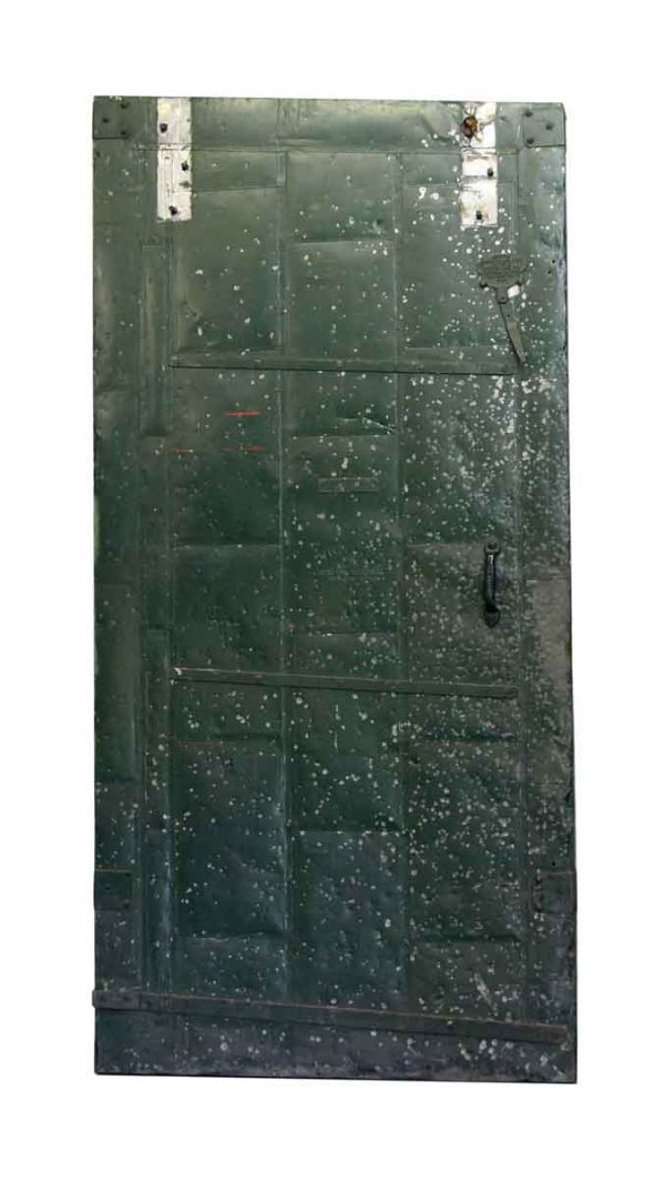 Green Metal Fire Door