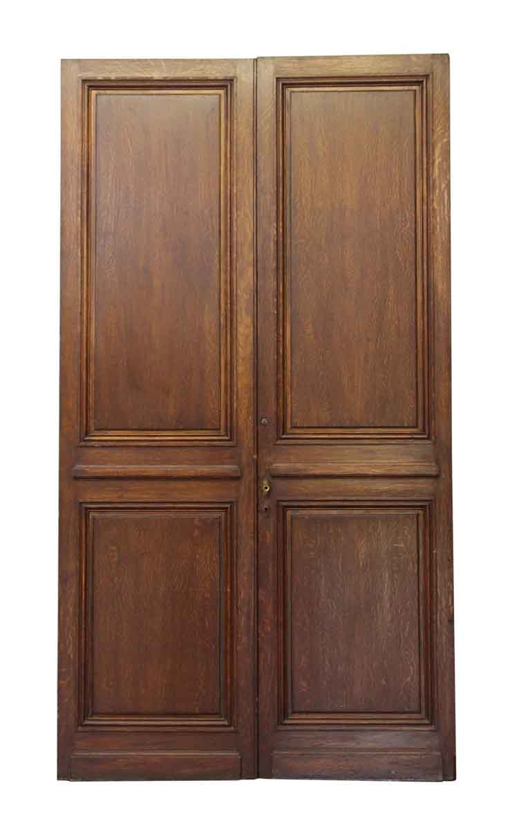 Narrow wood double doors olde good things for Narrow double front doors