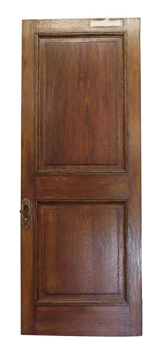 Single Double Panel Wood Door