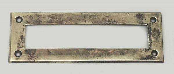 Polished Vintage Brass Letter Slot Back Plate