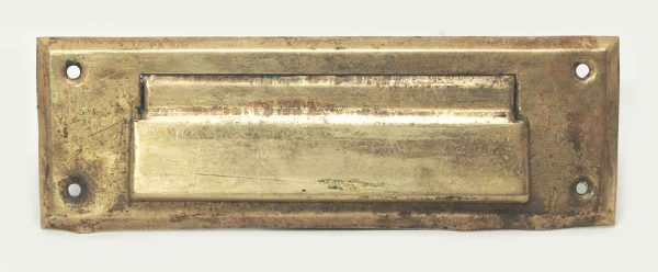 Pressed Brass Vintage Mail Slot