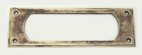 Vintage Polished Brass Letter Slot Back Plate
