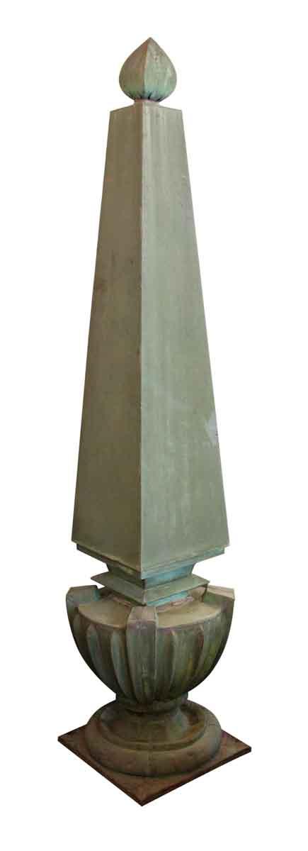 Verdigris Copper Obelisk