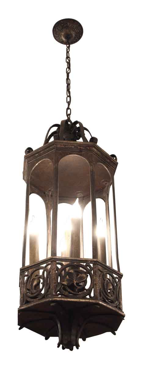 Bronze Five Light Pendant Lantern