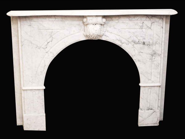 Carrera Marble Mantel with Grapes Keystone