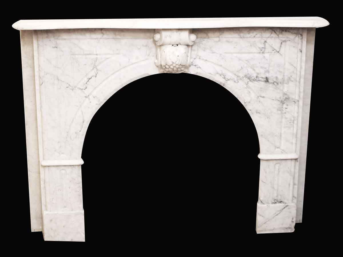 Carrera Marble Mantel With Grapes Keystone Olde Good Things