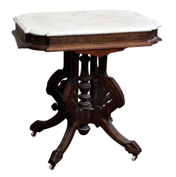 Marble Top Table with Wheels