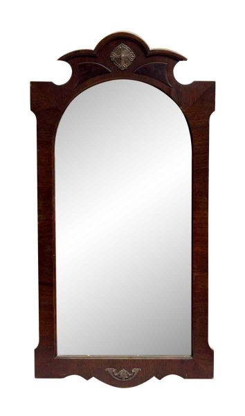 Carved Gothic Wood Frame Mirror