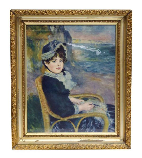 Painted Portrait in Gilded Frame